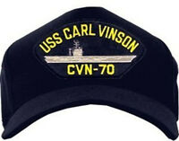 Uss Carl Vinson Cvn-70 Hat / U.s. Navy Gold Eagle Baseball Cap 9226