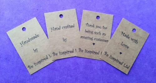 50 x Personalised Handmade Hancrafted Thankyou Tags Lables Home made