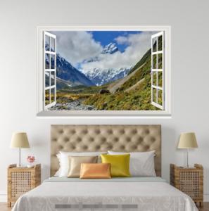 3D Mount White Clouds 155 Open Windows WallPaper Murals Wall Print AJ Jenny