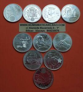 10-monedas-12-EUROS-2002-2003-2004-2005-2006-2007-2008-2009-2010-PLATA-SC-Espana