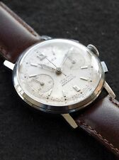 Vintage 1950's Nivada 17J Landeron 248 Chronograph Watch Montre Reloj (serviced)