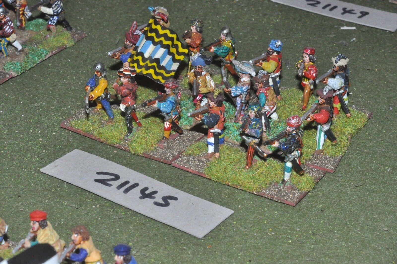 25mm renaissance infantry 18 figures (as photo) {6} (21145)