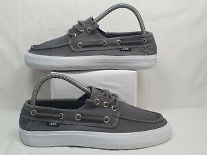 Racional Afirmar munición  VANS Boat Deck Shoes Grey Fabric Mens Childrens Size UK 6 USED | eBay