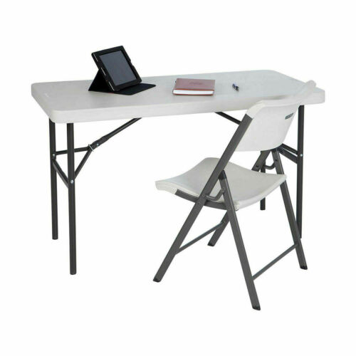 Folding Legs for compact and easy storage Lifetime 4ft Commercial Grade Table