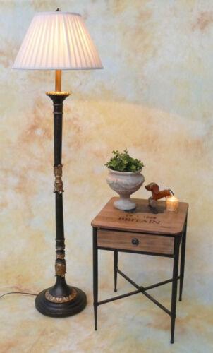 Stehlampe Lampe Stehleuchte Stoffschirm klassisch Landhaus vintage  PQ014-a