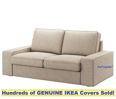 Ikea Kivik Loveseat 2 Seat Sofa 74 3 4 Cover Slipcover Hillared Beige Sealed Ebay