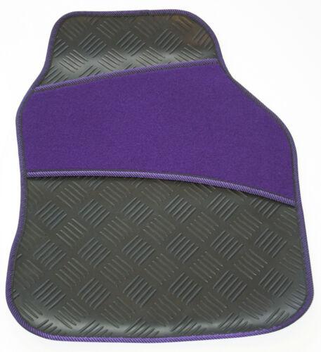 Heavy Duty Black Rubber /& Purple Velour Carpet Heel Pad /& Trim Car Floor Mats