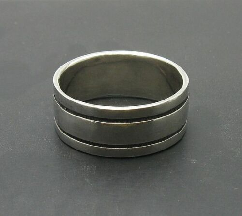 Sterling Silver Ring Band Solide 925 Neuf Taille 3.5-14 R000025