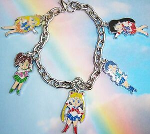 Image Is Loading Sailor Moon Scouts Character Anime Charms Bracelet Jupiter