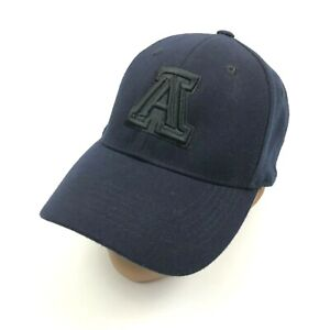 ARIZONA WILDCATS Stretch Fit Ball Cap Blue One Size Embroidered AZ Embroider