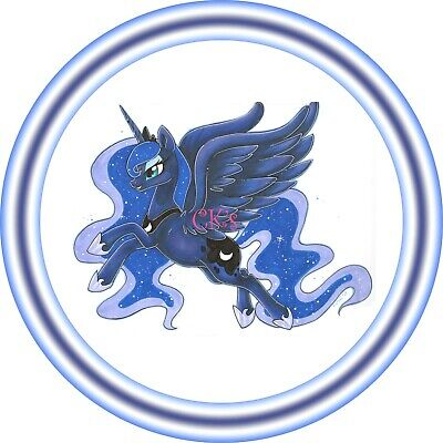 My Little Pony Princess Celestia 7 Inch Edible Image Cake /& Cupcake Toppers