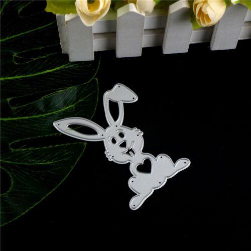 Ostern schöne Kaninchen Metall Stanzformen für Scrapbook Card Craft Album YR