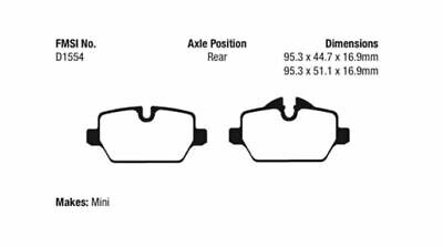 DP41986R NEW EBC YELLOWSTUFF FRONT BRAKE PADS SET PERFORMANCE PADS OE QUALITY