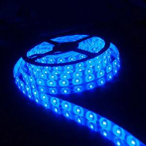 Super-Bright-5M-Blue-SMD-5630-300-LED-Strip-Light-Flexible-Waterproof-DC-12V-Car