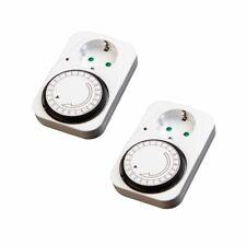 ab0e292f5ee4 2 Piezas Lex Reloj de Timer para el Uso en Interiores Temporizador Enchufe  Para