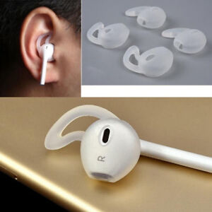 2 Pairs White Airpods Cover Earhooks Silicone Earbuds for