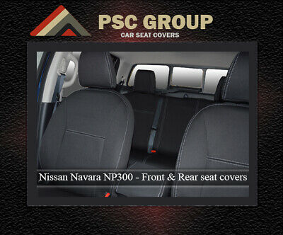 2 PREMIUM WATERPROOF SEAT COVERS 100/% Fit Nissan Navara NP300 FRONT PAIR