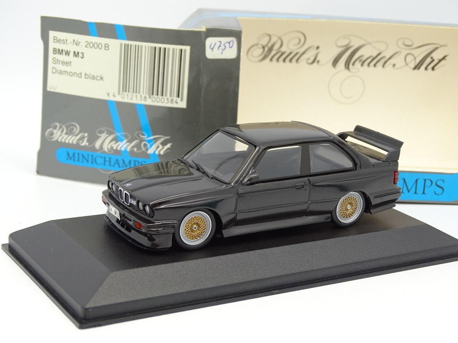 Minichamps 1 43 - BMW M3 E30 Diamond negro