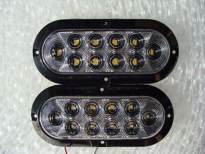 2 x 6 surface mount back up lights pair. Black Bedroom Furniture Sets. Home Design Ideas