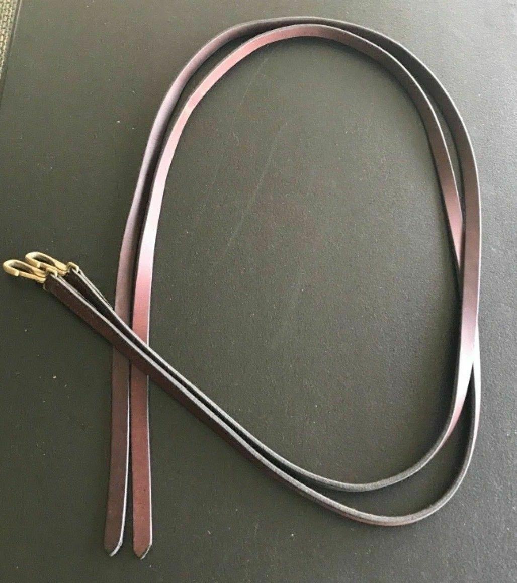 Marronee Leather Western Split Reins With Brass Clips