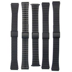 2-Part-Slim-Matt-Black-Stainless-Steel-Watch-Bracelet-18mm-Choice-of-Design