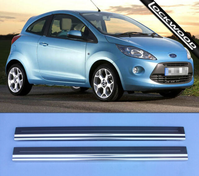 Ford Ka Mk Released Approx  Stainless Sill Protectors Kick Plates