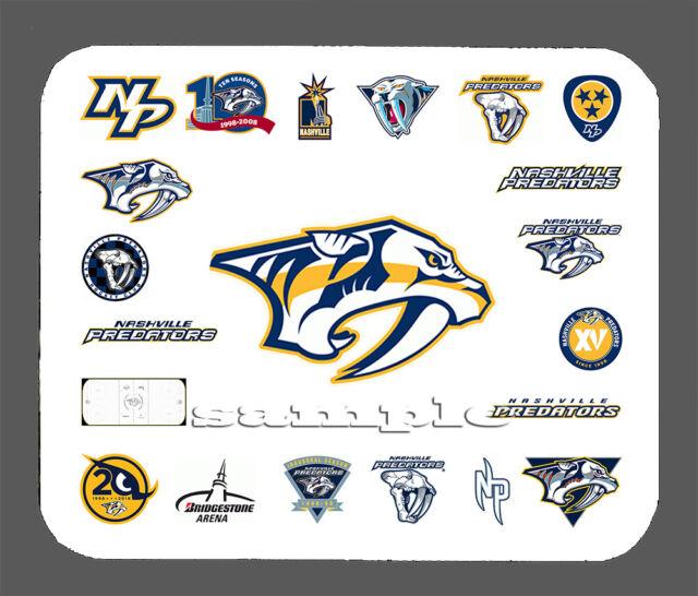 NEW Embroidered Mug RUg Mouse Pad made with Nashville predators hockey fabric