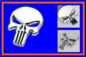 The Punisher Totenkopf Aufkleber Emblem AUTO Heckscheibe Tuning aus Metall Fun