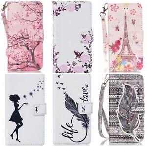 Carpeta-de-Soporte-de-Cuero-estilo-Billetera-Abatible-Estuche-Cubierta-para-Apple-iPhone-amp-Samsung