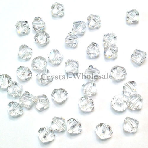 Swarovski 5328 XILION Bicone Beads Factory Pack clear CRYSTAL 001 *Pick Size QTY