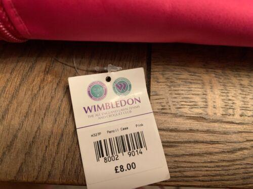 Official WIMBLEDON Tennis Pink Pencil Case RRP £12