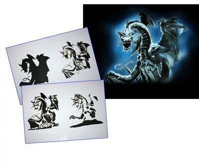 Step by Step Airbrush Schablone AS-086 ~ Tattoo Stencil ~ UMR-Design