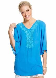 4fa1074130 Lilly Pulitzer for Target Womens Gauze Tunic Top Cover Up Blue Bell ...