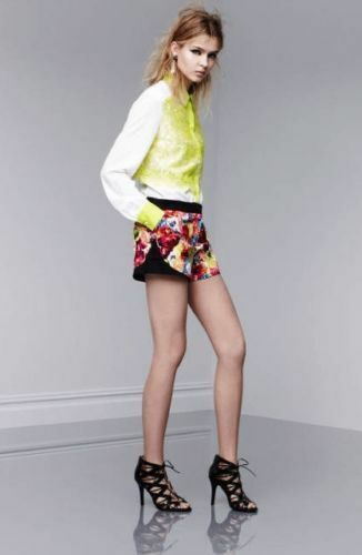 Nwt Prabal Floral Target Pantaloncini 10 Gurung For Sf Crush Rzx7cRHA