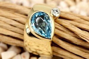 MANFREDI-Gold-Ring-750-Diamant-Spinell-1-Brillant-ca-0-02ct-VS1-H-Gr-47-7-32g