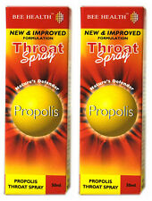 2 x Bottls Bee Health PROPOLIS Throat Spray 50ml each