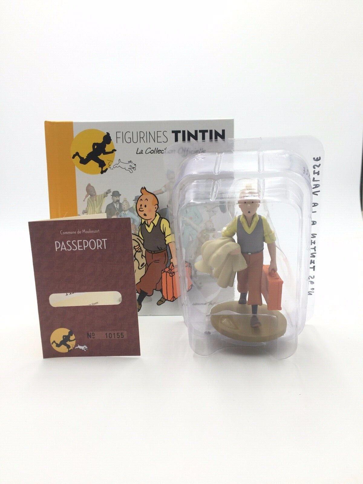 Tintin  Figurine n95 tintin à la la la valise coque neuf   livret passeport 8ba57e