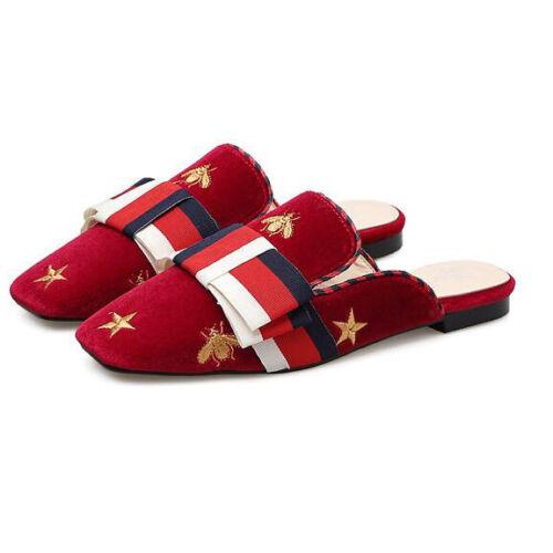 Sabot Rosso Eleganti Ciabatte 9844 Colorato Pelle Simil Comodi Basse BqH6Awzx5