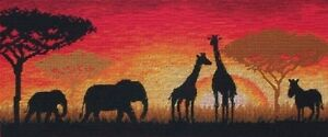 ANCHOR-MAIA-COLLECTION-AFRICAN-HORIZON-COUNTED-CROSS-STITCH-KIT-ELEPHANT-GIRAFFE