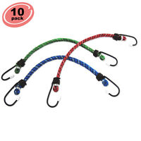 10pc Bungee Cord 12 Inch Heavy Duty Straps 2 Hooks Tie Down Set on sale