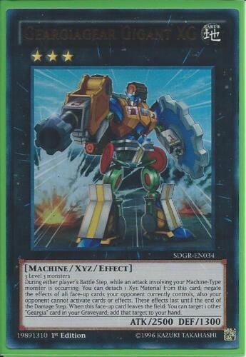 3x Yugioh SDGR-EN034 Geargiagear Gigant XG Ultra Rare 1st Ed NM