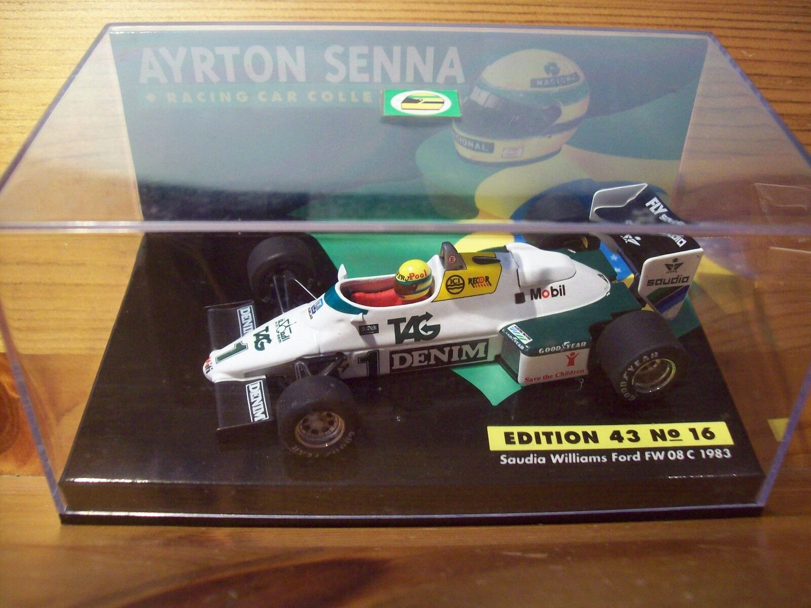 1/43 AYRTON SENNA N. 16 SAUDIA Williams FORD FW08C 1983