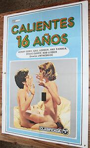 Poster-de-Cinema-a-la-Mode-16-ANS-Vintage-Erotique-Sex-Movie-Film-Poster