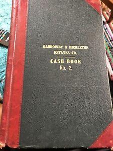 Antique Ledger 1950s-70s Halifax Garrowby Hickleton Estates Cash Book Vintage