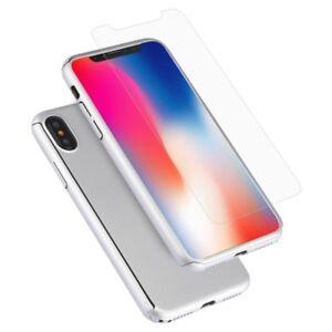 Dettagli su Cover iPhone X Custodia Protettiva 360 Gradi Pellicola Vetro Temperato