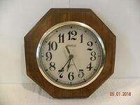 Vintage Wood Spartus Wall Clock