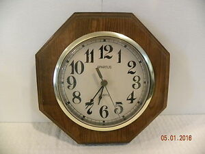 Vintage Wood Spartus Wall Clock Ebay
