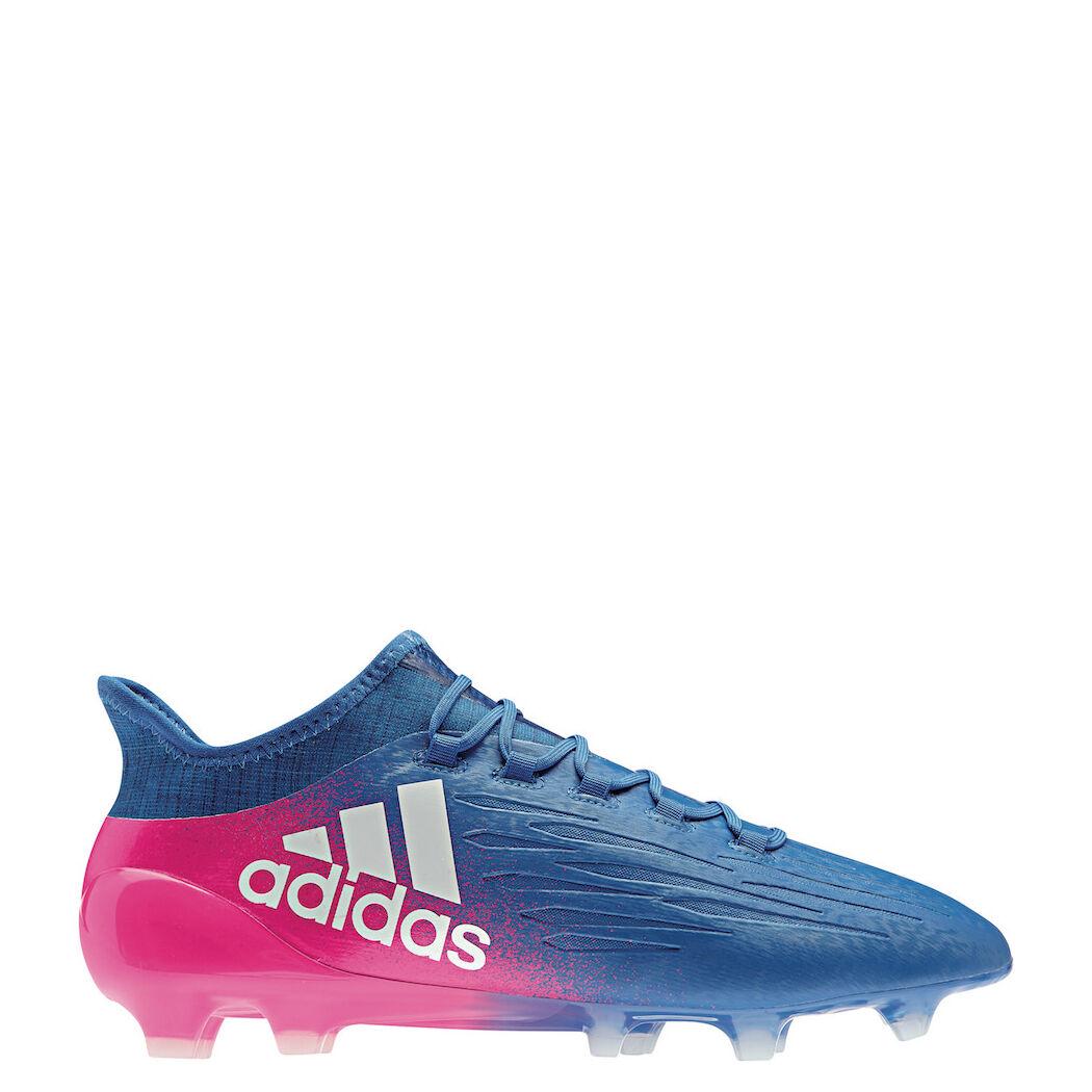Adidas x 16.1 FG azul Blast techfit botas de fútbol fútbol fútbol azul blanco rosa [bb5619] 7f3921