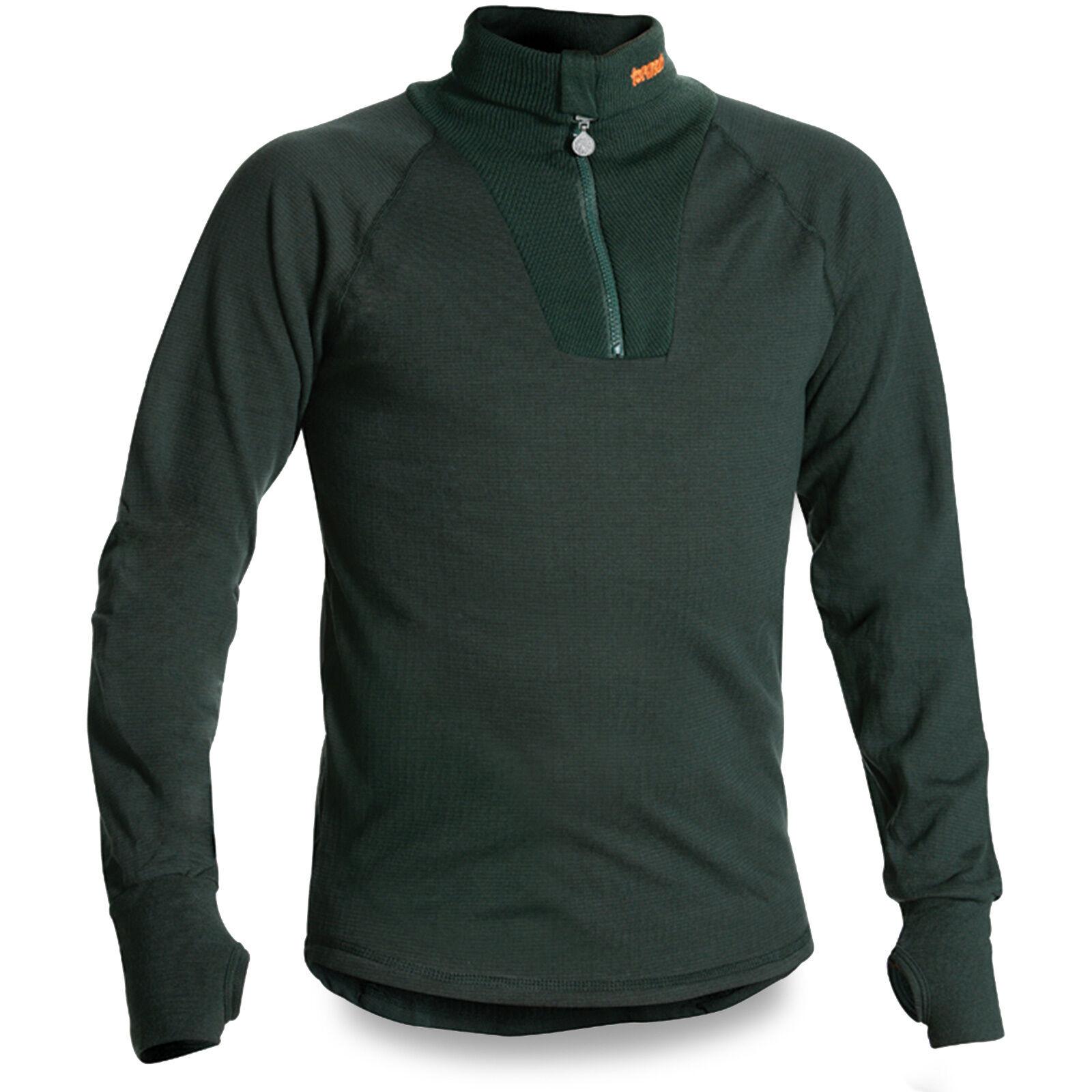 Termo original militaire lourd armée chaud thermique couche de base sous shirt top vert