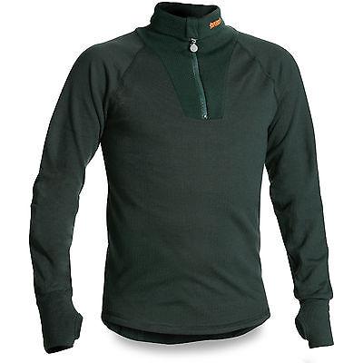 Termo Original Medium Zip Thermal Warm Cold Weather Base Layer Top Shirt Black